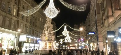 Christmas lights on Graben