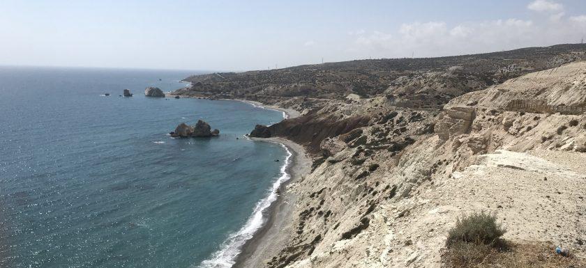 Petra tou Romiou, Paphos to Limassol coastal road