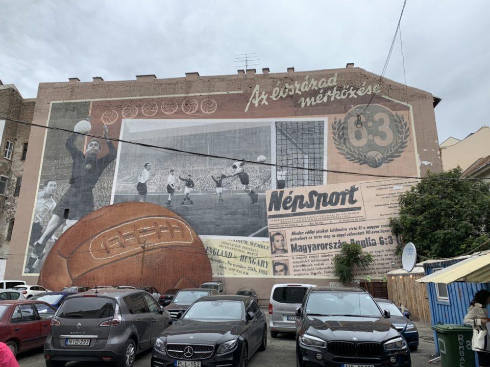 Street art of the Jewish Quarter of Budapest