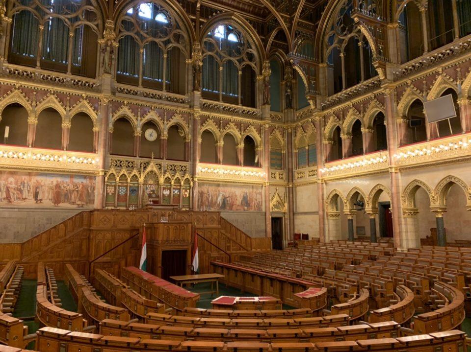 Congress hall Hungarian parliament